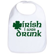 Irish I Was Drunk Shamrock Bib