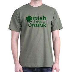 Irish I Was Drunk Shamrock T-Shirt