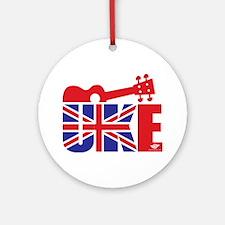 UK-E Ukulele Round Ornament