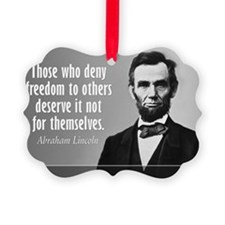 Lincoln Quote Slavery Ornament