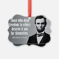 Lincoln Quote Slavery Ornament