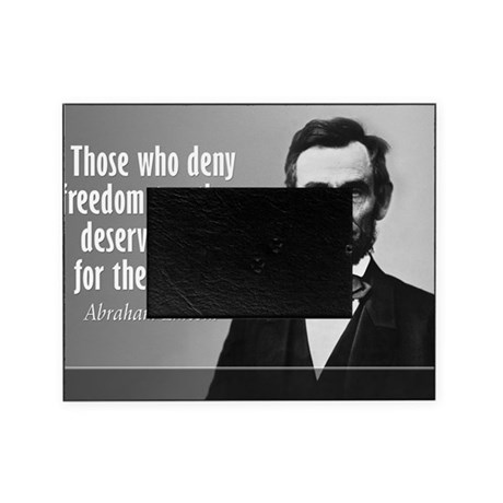 Lincoln Quote Slavery Picture Frame