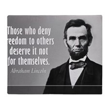 Lincoln Quote Slavery Throw Blanket