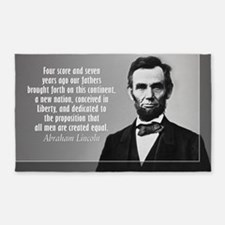 Lincoln Quote Gettysburg 3'x5' Area Rug