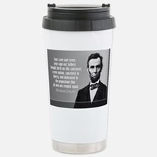 Lincoln Quote Gettysburg Stainless Steel Travel Mu