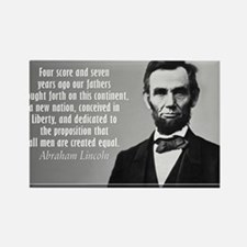 Lincoln Quote Gettysburg Rectangle Magnet