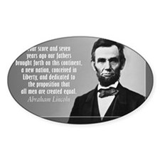 Lincoln Quote Gettysburg Decal