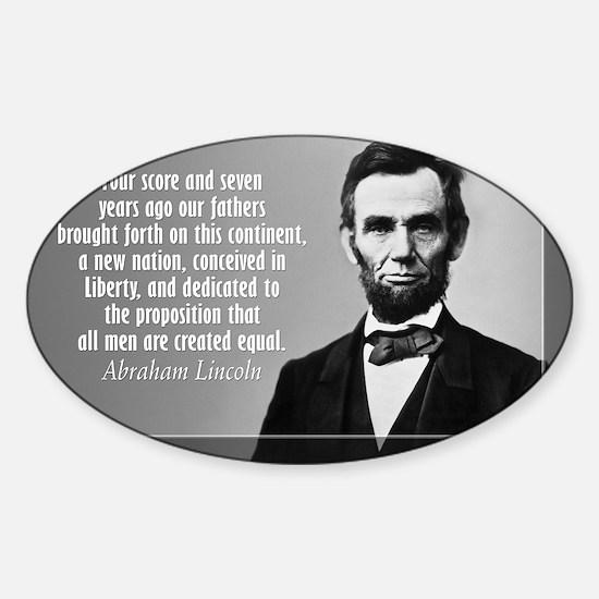 Lincoln Quote Gettysburg Sticker (Oval)