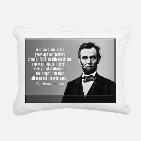 Lincoln Quote Gettysburg Rectangular Canvas Pillow