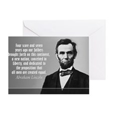 Lincoln Quote Gettysburg Greeting Card
