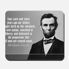 Lincoln Quote Gettysburg Mousepad
