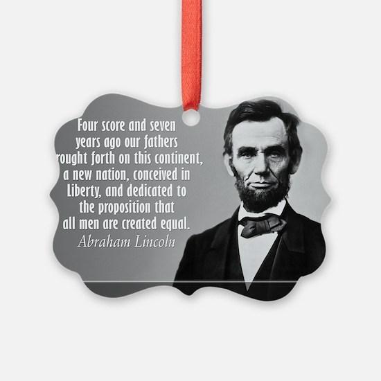 Lincoln Quote Gettysburg Ornament