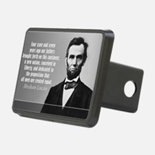 Lincoln Quote Gettysburg Hitch Cover