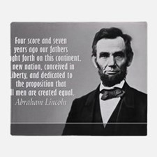 Lincoln Quote Gettysburg Throw Blanket