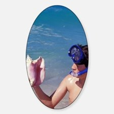 Grand Anse Beach. Young snorkeller  Decal