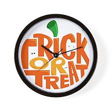 TrickorTreat Wall Clock