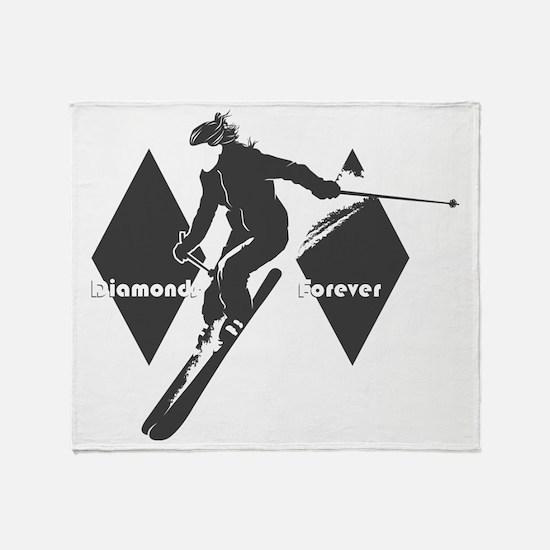 diamonds forever Throw Blanket