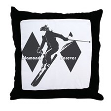 diamonds forever Throw Pillow