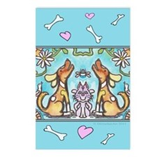 pets card 2 Postcards (Package of 8)