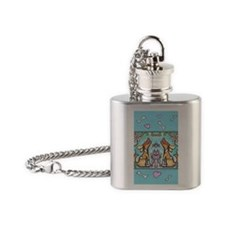 pets card 2 Flask Necklace
