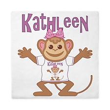 kathleen-g-monkey Queen Duvet