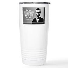 Lincoln Quote Success Travel Mug