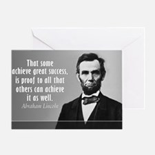 Lincoln Quote Success Greeting Card