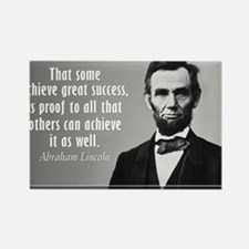 Lincoln Quote Success Rectangle Magnet