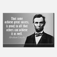Lincoln Quote Success Postcards (Package of 8)