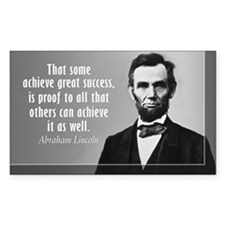 Lincoln Quote Success Decal