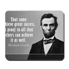 Lincoln Quote Success Mousepad
