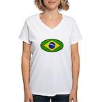 Brazil Women's V-Neck T-Shirt