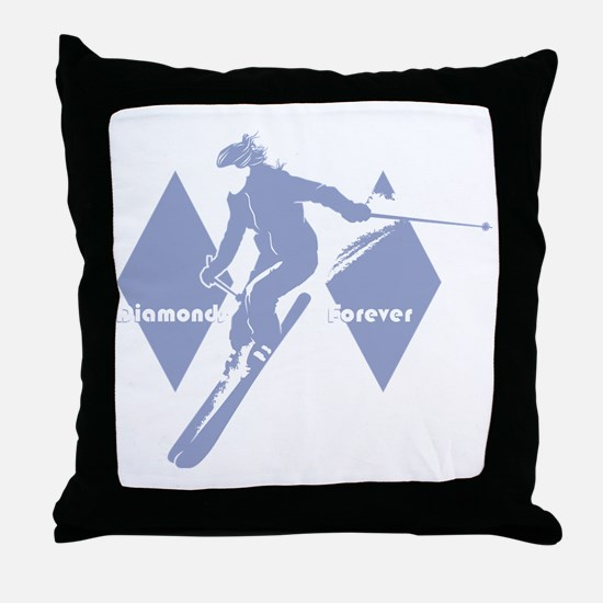 diamonds forever lavender Throw Pillow