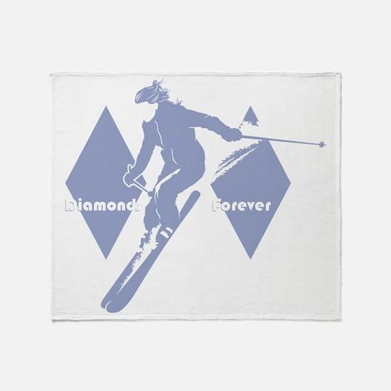 diamonds forever lavender Throw Blanket
