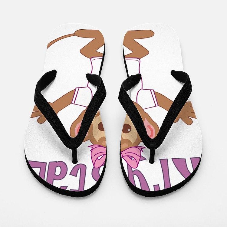 krystal-g-monkey Flip Flops