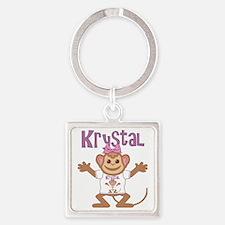 krystal-g-monkey Square Keychain