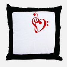 I Heart Music-dk bkgrd.GIF Throw Pillow