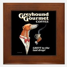 Greyhound Gourmet-male Framed Tile