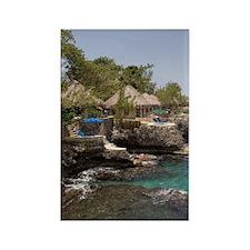 Jamaica, Negril, Rockhouse Hotel  Rectangle Magnet