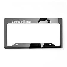 Lincoln Quote Aneruca License Plate Holder