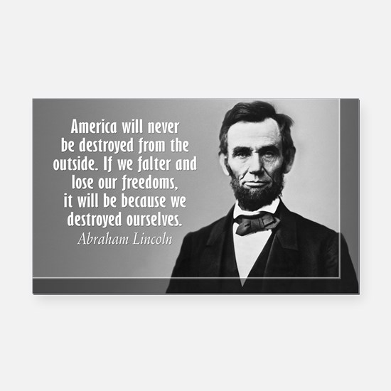 Lincoln Quote Aneruca Rectangle Car Magnet