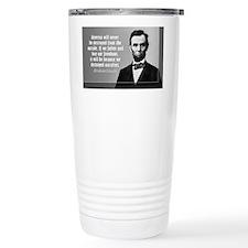 Lincoln Quote Aneruca Travel Mug