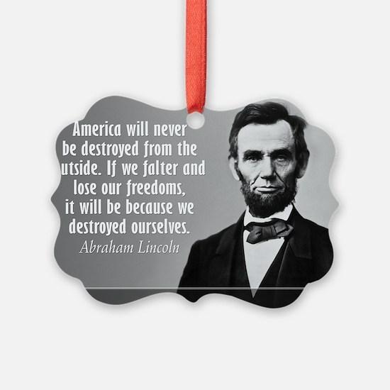 Lincoln Quote Aneruca Ornament