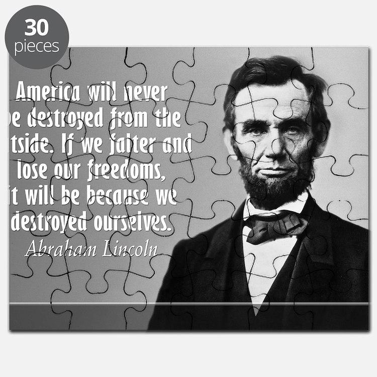 Lincoln Quote Aneruca Puzzle