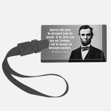 Lincoln Quote Aneruca Luggage Tag