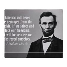 Lincoln Quote Aneruca Throw Blanket