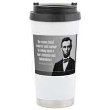 Lincoln Quote Character Travel Mug