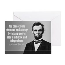 Lincoln Quote Character Greeting Card