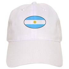Argentina Oval Flag Baseball Cap