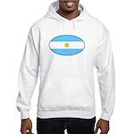 Argentina Oval Flag Hooded Sweatshirt